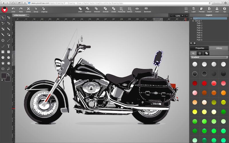 Online Vector Graphic Design On Html5 Canvas Youidraw Drawing
